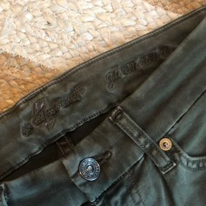 7 For All Mankind Jeans - 7 for all Mankind Skinny Jeans Olive Green Size 25